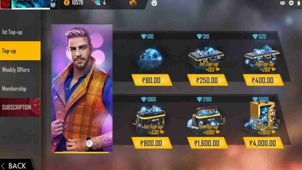 Free Fire Account Top-up