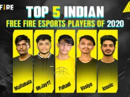 Top 5 Indian Free Fire Esports Players of 2020
