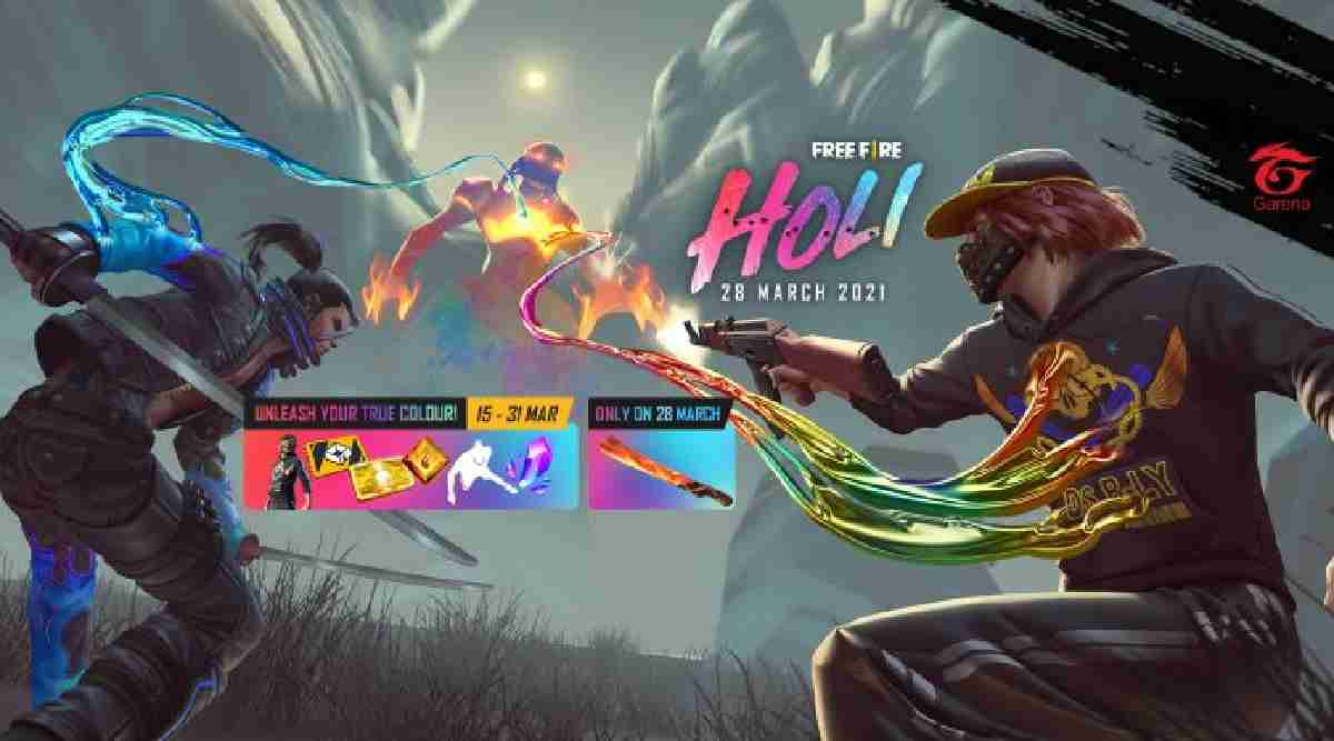 Free Fire Holi Event 2021